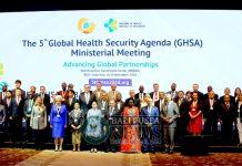 Sebanyak 600 delegasi dari 49 negara anggota GHSA hadir di Bali Nusa Dua Convention Center (BNDCC) mulai dari tanggal 6-8 November guna membahas ketahanan kesehatan global.