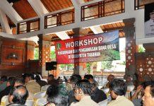 Workshop Penggunaan dan Pengawasan Dana Desa di Kabupaten Tabanan, Senin (10/12) di Gedung Mario Tabanan.