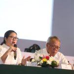 Menko PMK Puan Maharani pada acara Rakernas Gerakan Indonesia Bersih di Jakarta, Kamis (21/2).