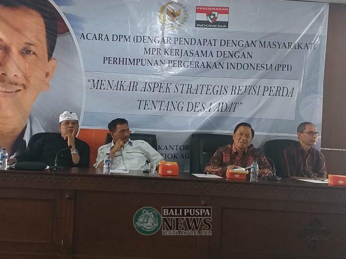 Senator perwakilan Bali Gede Pasek Suardika menggelar Dengar Pendapat dengan Masyarakat (DPM)