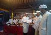 Bantuan untuk kelangsungan upacara Panca Wali Krama di wantilan pesucian Pura Besakih, Desa Rendang, Karangasem
