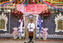 Wakil Bupati Badung I Ketut Suiasa, saat menghadiri HUT ke-40 serta Pelantikan Pengurus Sekaa Teruna Dharma Putra masa bakti 2019-2021, Banjar Gelagah Puwun, Desa Kekeran, Kecamatan Mengwi. Sabtu (23/3) lalu.