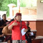 Komisi IV DPRD Provinsi Bali I Nyoman Parta saat menghadiri acara sosialisasi Raperda tentang Desa Adat di Wantilan Kantor DPRD Provinsi Bali, Senin (25/3)