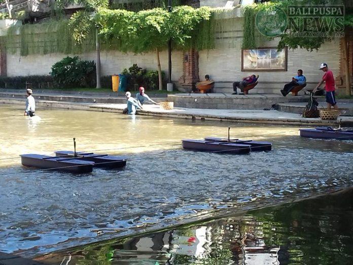 3 unit Nano Bubble atau penjernih air yang telah dipasang di kawasan Sungai Badung, Taman Kumbasari, Denpasar.