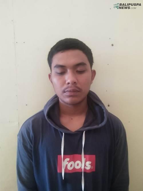 Pelaku pencurian I Wayan Agus Saputra ,22 berhasil dikeler petugas Kepolisian Klungkung