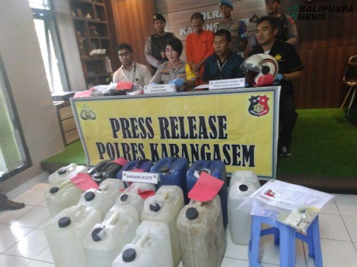 Polres Karangasem publikasikan hasil operasi pekat
