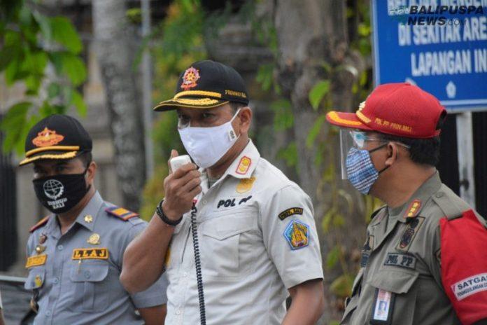 Razia Penertiban Protokol Kesehatan Covid-19 pemprov Bali bersama Gabungan TNI/Polri, Minggu (20/9)