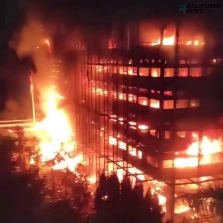 Kebakaran hebat yang melahap Gedung Utama Kejagung pada Sabtu malam (22/8/2020) lalu
