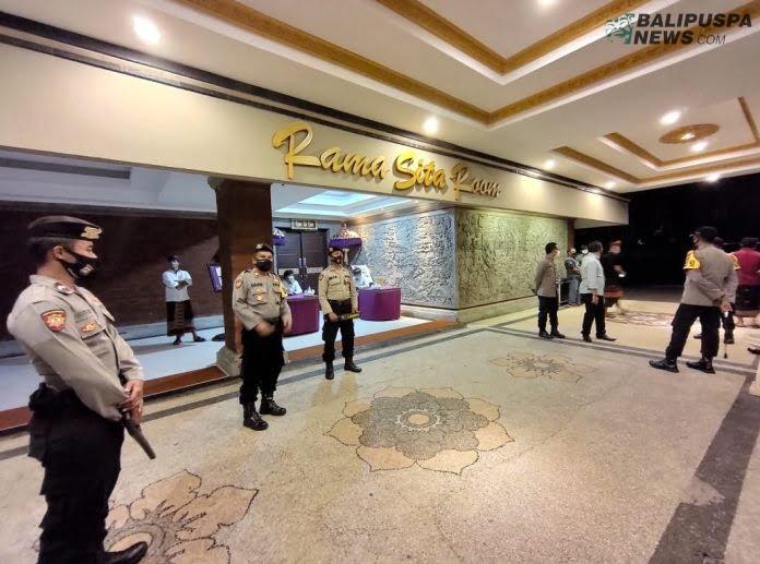 Polres Bangli amankan debat Pilkada Bangli di Inna Grand Bali Beach Sanur, Senin (19/10/2020) malam
