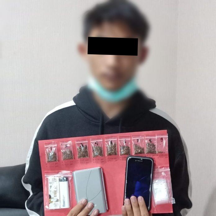 Pelaku penyalahgunaan narkoba yang berhasil diamankan anggota Satresnarkoba Polres Badung